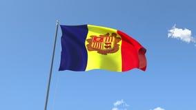 Flaga Andorra ilustracji
