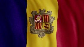 Flaga Andorra royalty ilustracja