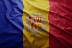 Flaga Andorra Fotografia Stock