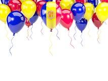Flaga Andorra na balonach Obrazy Royalty Free