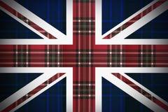 Flaga Anglia z teksturą Szkocja ilustracji