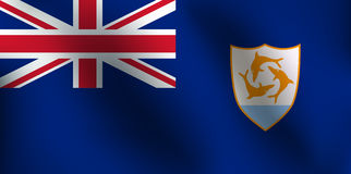Flaga Anguilla - Wektorowa ilustracja Royalty Ilustracja
