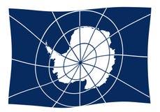 Flaga Antarctica falowanie ilustracja wektor