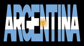 flaga argentina tekst ilustracji