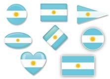 Flaga Argentyna Fotografia Stock