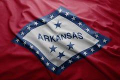Flaga Arkansas stan royalty ilustracja