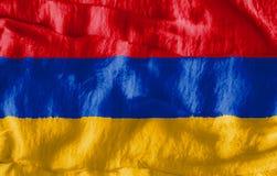 Flaga Armenia Fotografia Stock