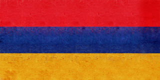 Flaga Armenia Grunge Obraz Stock