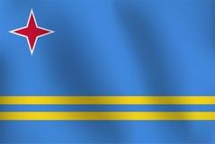 Flaga Aruba - Wektorowa ilustracja Ilustracja Wektor