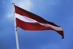 Flaga Austria, lampasy w czerwieni, biel, czerwień, krajowy symbol Zdjęcie Royalty Free