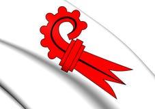 Flaga basel, Szwajcaria Zdjęcia Royalty Free