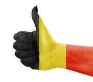 Flaga Belgia na ręce Zdjęcie Royalty Free
