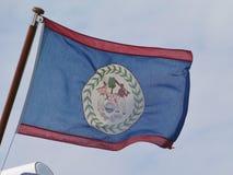 Flaga Belitze dmuchanie w wiatrze Obrazy Stock