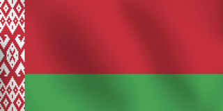 Flaga Białoruś - Wektorowa ilustracja Ilustracja Wektor