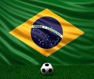 flaga brazylijskie Zdjęcie Stock