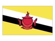Flaga Brunei ilustracji