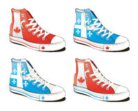 flaga buty Zdjęcie Stock