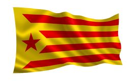 Flaga Catalonia Obrazy Stock