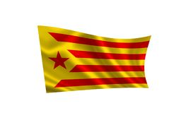 Flaga Catalonia Fotografia Royalty Free