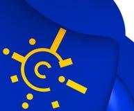 Flaga centrala - europejski umowa o wolnym handlu ilustracji