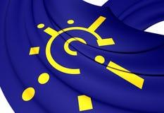 Flaga centrala - europejski umowa o wolnym handlu royalty ilustracja
