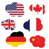Flaga chmurnieje kolekcję Zdjęcia Royalty Free