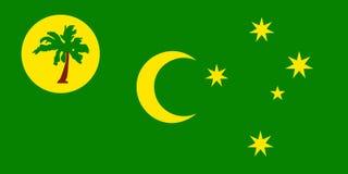 Flaga Cocos Keeling wyspy ilustracji