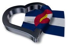 Flaga Colorado i kierowy symbol Zdjęcie Stock