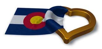 Flaga Colorado i kierowy symbol Obrazy Stock