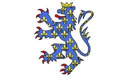 Flaga Compiegne, Francja zdjęcie royalty free