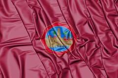 Flaga cordoby miasto Andalusia, Hiszpania ilustracja 3 d Zdjęcia Stock
