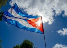 Flaga Cuba falowanie w powietrzu fotografia royalty free