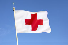 Flaga czerwony krzyż Zdjęcie Stock