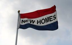 flaga domów nowego Fotografia Royalty Free