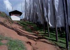flaga dom modlitwy w white Zdjęcia Royalty Free