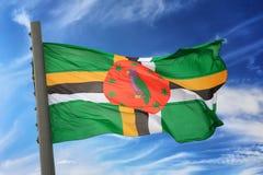 flaga dominiki Zdjęcie Stock