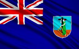Flaga Dziewicze wyspy, Zjednoczone Królestwo - Drogowy miasteczko Ilustracji