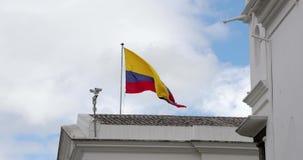 Flaga Ekwadoru na wietrze zdjęcie wideo