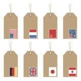 flaga etykietki ilustracji