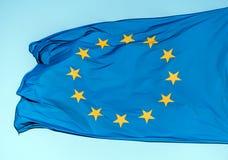 Flaga Europe zjednoczenia zbliżenie Fotografia Royalty Free