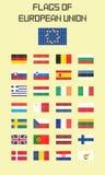 Flaga Europejski zjednoczenie Fotografia Stock