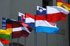 flaga europejskich Fotografia Royalty Free