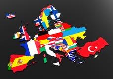 flaga europejskich Obrazy Royalty Free