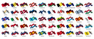 flaga europejskich Zdjęcie Stock