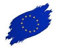 Flaga Europejskiego zjednoczenia grunge stylu wektorowa ilustracja odizolowywająca na bielu royalty ilustracja