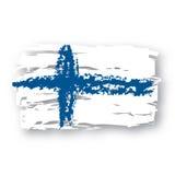 flaga finlandia wektora Zdjęcie Royalty Free