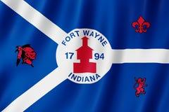 Flaga fortu Wayne miasto, Indiana USA royalty ilustracja