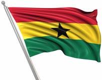 flaga Ghana royalty ilustracja