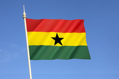 flaga Ghana Obrazy Royalty Free
