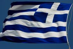 Flaga Grecja oficjalnie adoptował Pierwszy obywatelem Zdjęcie Royalty Free